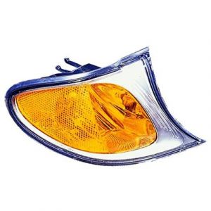 BMW BMW 3 ( i/xi ) (SD/WG) CORNER LAMP UNIT RIGHT (AMBER SIGNAL W/SILVER BASE) OEM#63136915384 2002-2005