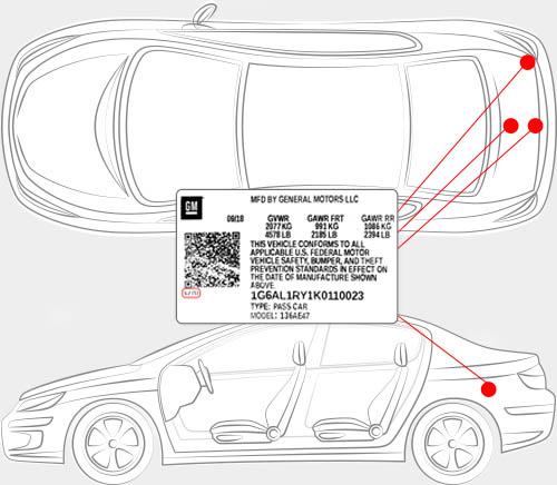 Chevrolet Paint Code Locator