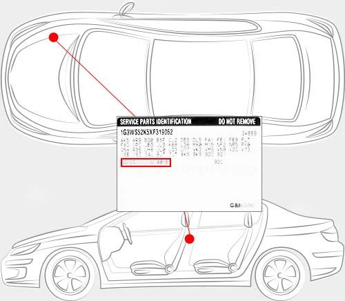 Hummer Paint Code Locator