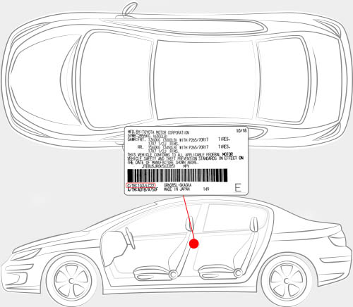 Scion Paint Code Locator