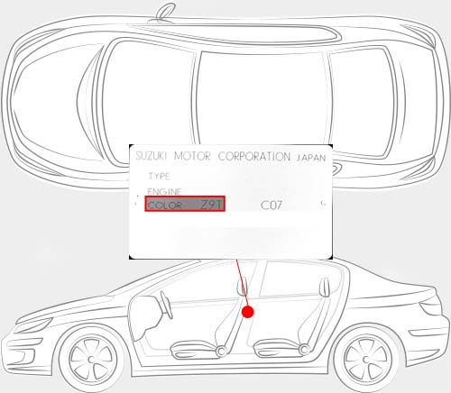 Suzuki Paint Code Locator